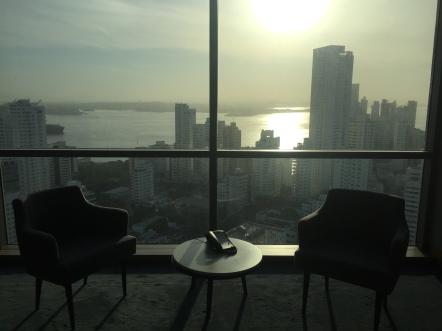 Vista do 26 andar no Intercontinental Cartagena